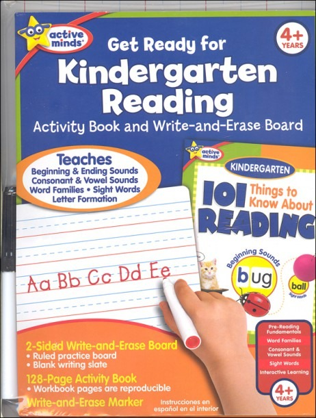 Get Ready For Kindergarten Reading  Activity Book And Write