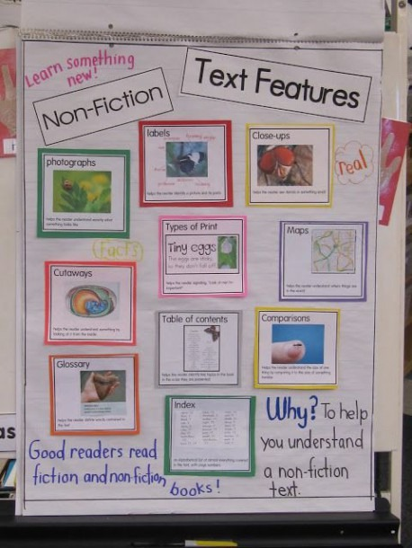 Here's A Terrific Anchor Chart On Nonfiction Text Features