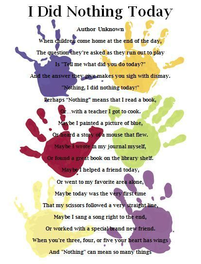 I Love This Poem! We Gave This To My Daughter's Kindergarten