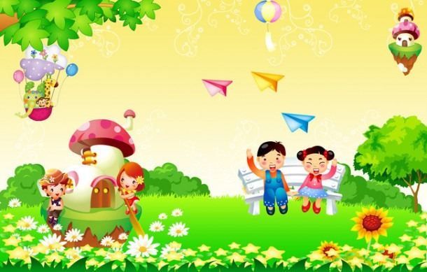 Kindergarten Advertising Childrens Day Poster Background Material