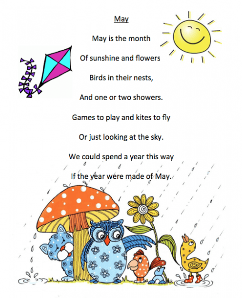 May Poem Printables