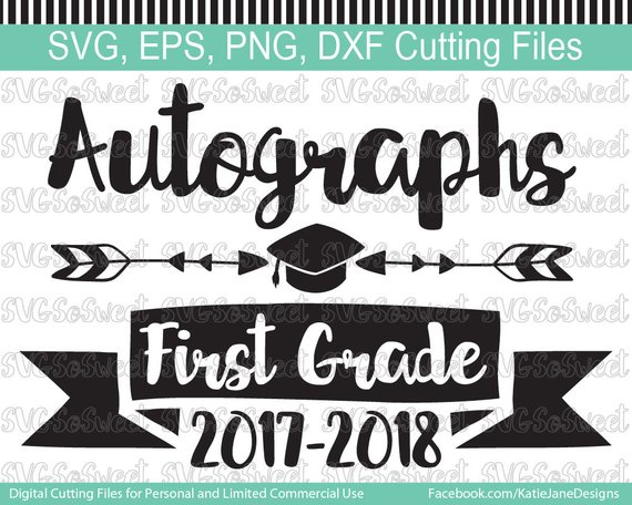 2018 Autograph Bundle Svg, Year End Autographs, Kindergarten, End