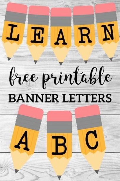 Welcome Back School Banner {pencil Letters