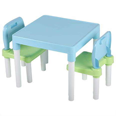 Amazon Com  Cocoarm Childrens Kids Table Chair Set, Plastic Table