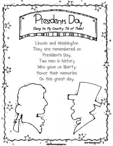 Freebie! President's Day Poem, Sung To 'my Country Tis Of Thee
