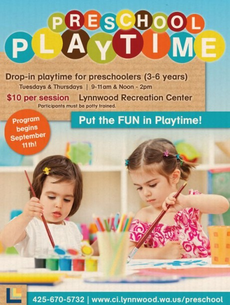 Preschool Playtime Poster