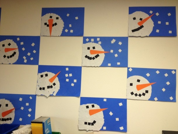 Winter (snowman) Art Lessons Pk 12