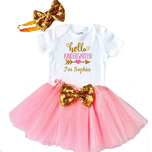Amazon Com  Funmunchkins First Day Of Kindergarten Outfit Hello
