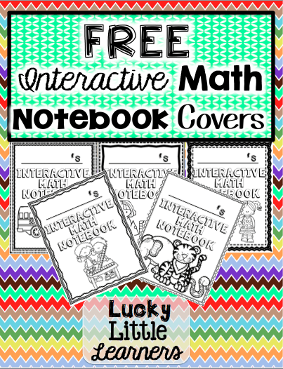 Free Interactive Math Notebook Covers