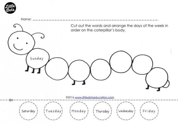 Free Days Of The Week Worksheet  Arrange The Days Of The Week In