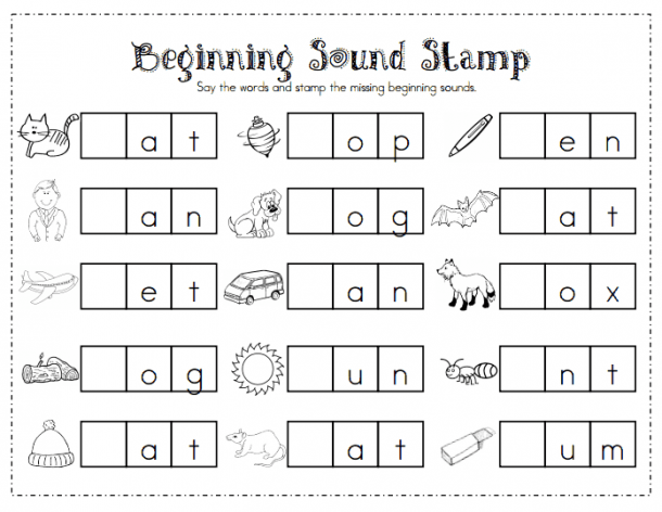 Beginning Sound Stamp Pdf
