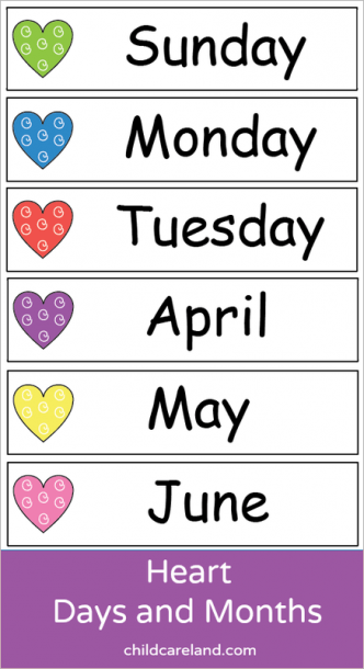 Heart Days And Months
