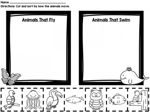 How Animals Move {printable Book, Sorting Worksheets, & Posters