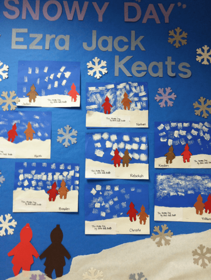 1st Grade In One Year  The Snowy Day Art