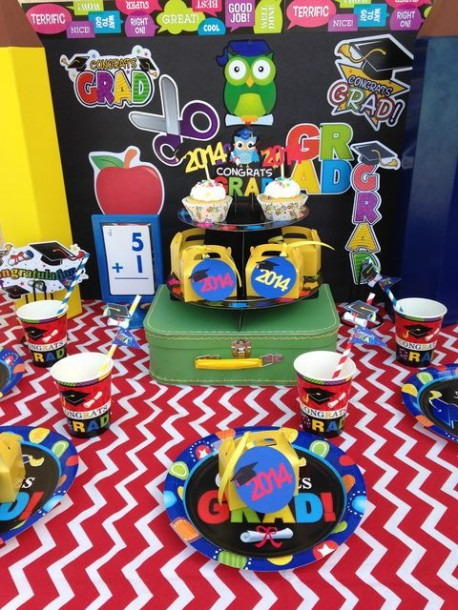 Colorful Kindergarten Graduation! See More Party Ideas At