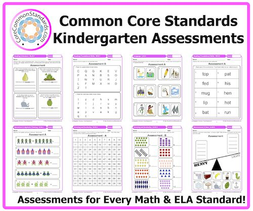 Kindergarten Common Core Assessment Workbook Download