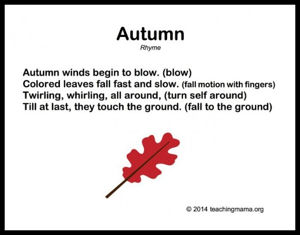 10 Autumn Songs For Preschoolers