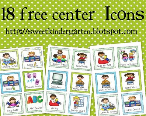 Life Is Sweet In Kindergarten!   Free  Literacy Center  Daily 5