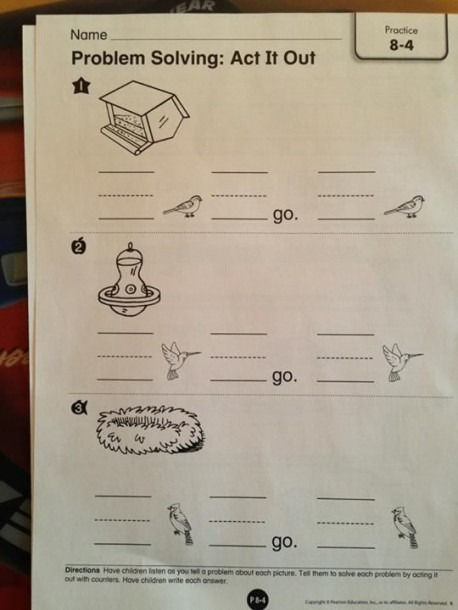 Kindergarten Homework From Pearson Education ~ What Is This
