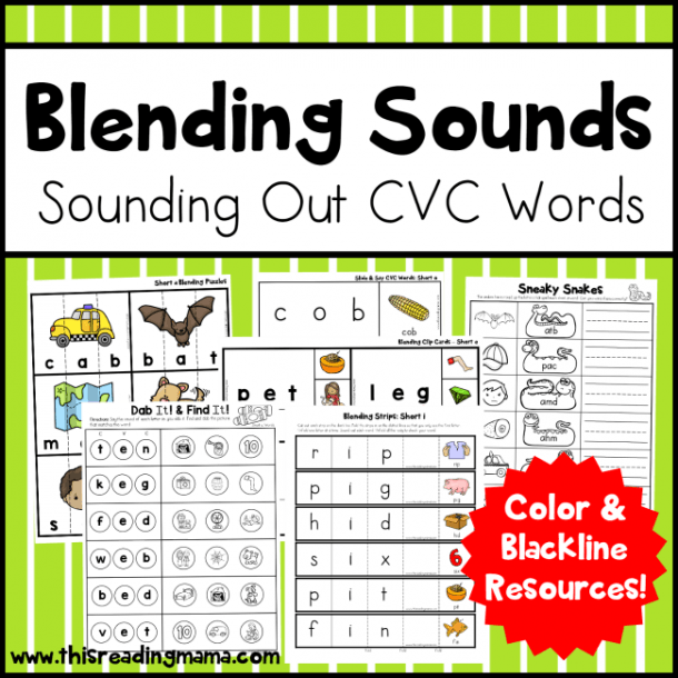 Blend Sounds With Cvc Dot Pages