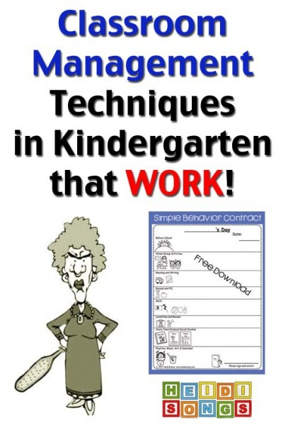 Classroom Management Techniques In Kindergarten That Work! – Heidi