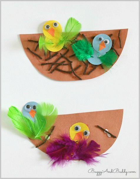 Spring Crafts For Kids  Nest And Baby Bird Craft