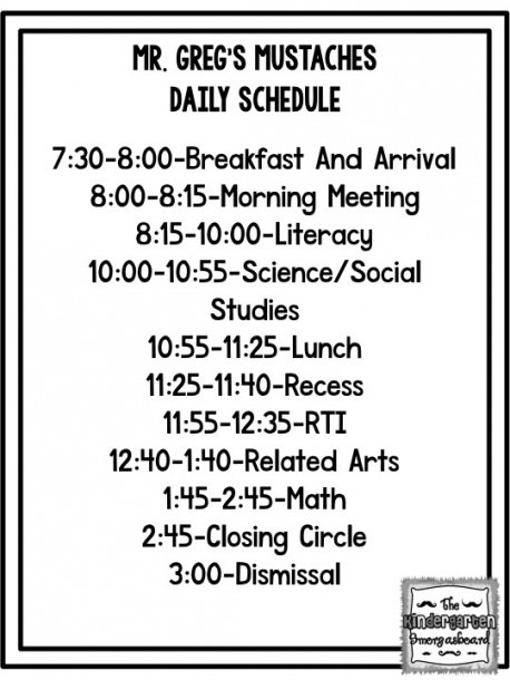 Daily Schedule  Fitting It All In