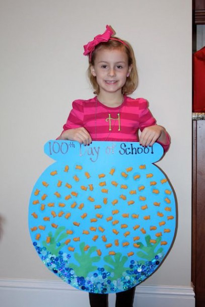 Cute Idea For A 100th Day Of School Poster   100thday