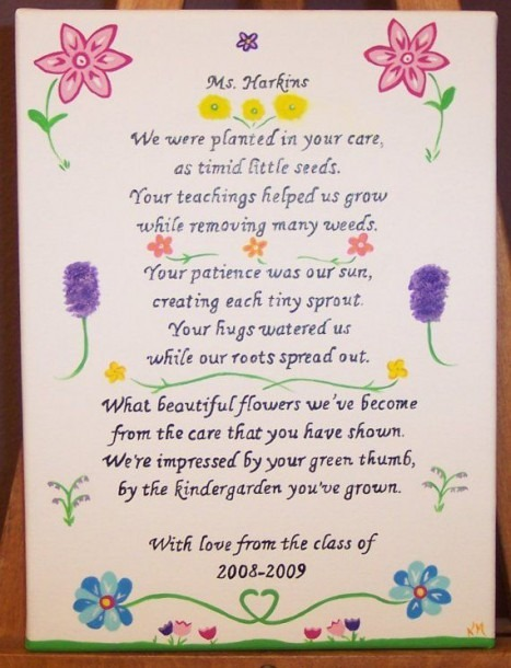 Kindergarten Teacher Personalized Poem By Kimmadsen On Etsy