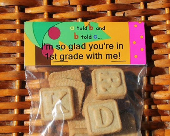 Back To School Treat Bag Toppers