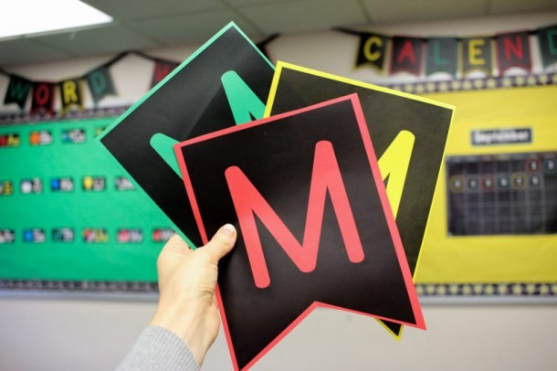 Quick And Easy Bulletin Boards With Free Pennant Letters