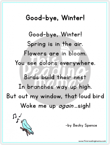 Free Spring Poetry Pack For Kids
