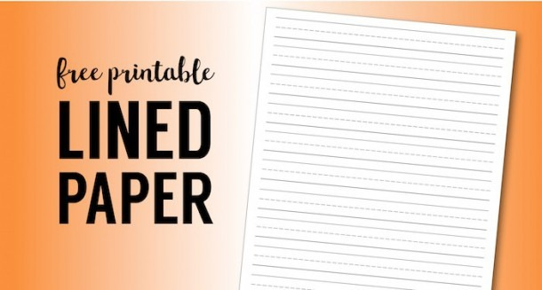 Free Printable Lined Paper {handwriting Paper Template}