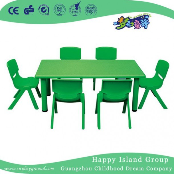 School Green Economy Plastic Rectangle Table (hg
