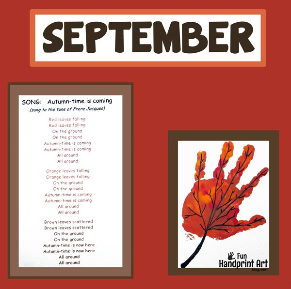 Handprint Leaf For September