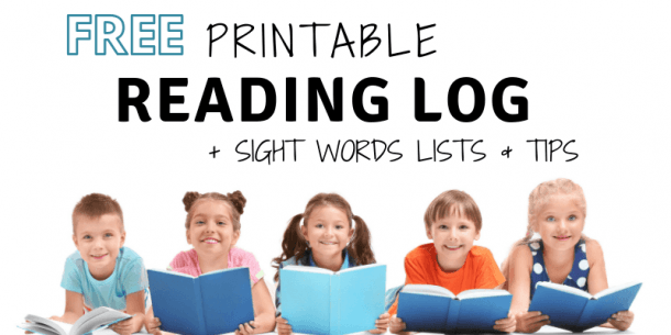 Free Printable Reading Log, Sight Words Lists And Learn To Read Tips