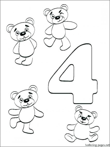 Number Coloring Sheet Pages Numbers 1 Free For Kindergarten C