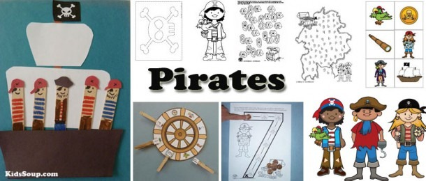 Pirates Preschool And Kindergarten Activities, Crafts, And Games