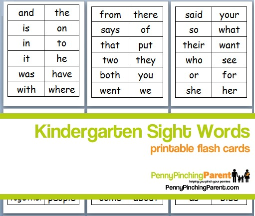 Ppp Pick  Printable Kindergarten Sight Word Flash Cards