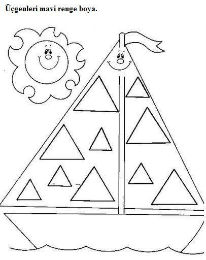Triangle Worksheets For Preschool