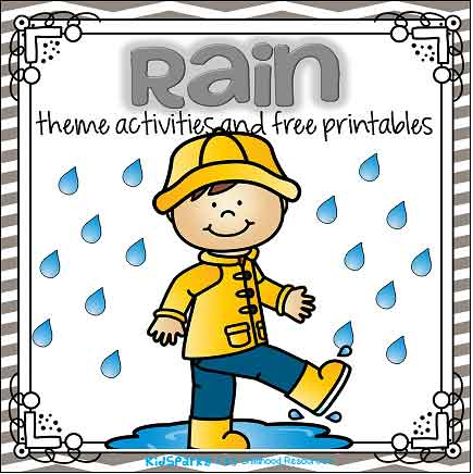 Rain Theme Activities And Printables For Preschool And