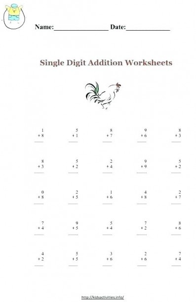 Simple Adding And Subtracting Worksheets – Openlayers Co