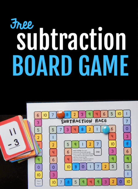 Use Flash Cards To Play This Free Subtraction Game!