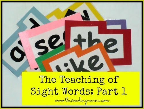 Sight Words Age And List