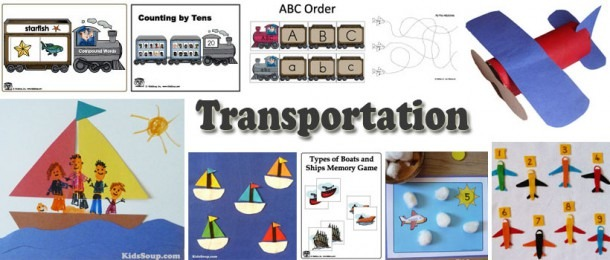 Transportation Planes, Train, And Ships Activities, Crafts, And
