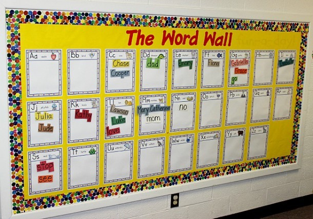 Word Walls In Preschool And Kindergarten