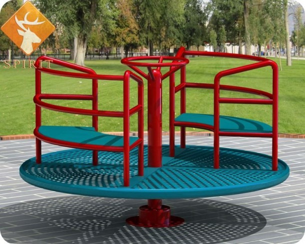 Tuv Approved Castle Kindergarten Merry Go Round Spinning With Foam