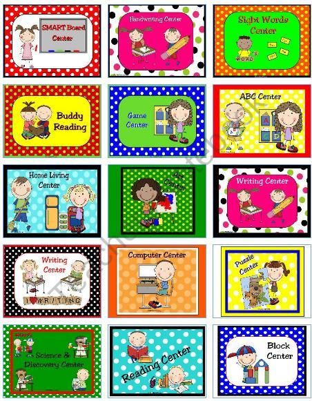 Learning Center Signs & Labels Product From Kellyyoung On