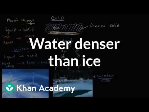 Liquid Water Denser Than Solid Water (ice) (video)