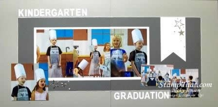 2 Page Scrapbook Layout – Kindergarten Graduation Play